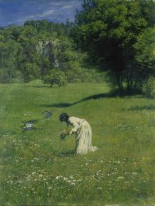 In the Meadow, 1876 by Hans Thoma