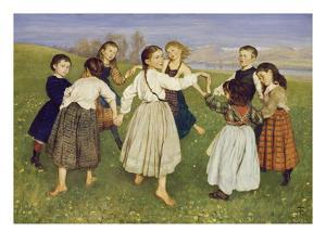 Kinderreigen, 1872 by Hans Thoma