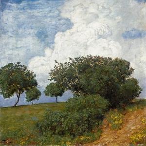 Landschaft Mit Wolke, 1893 by Hans Thoma