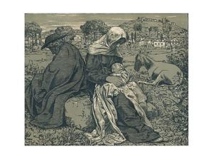 'Rest During the Flight into Egypt', c1897 by Hans Thoma