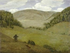 Silent Valley. Stilles tal. 1882 by Hans Thoma