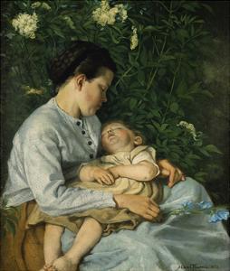 Unter Dem Flieder, 1871 by Hans Thoma