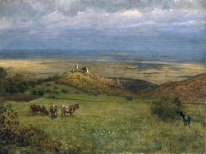 View of Kronberg in Taunus, Germany, 1879 by Hans Thoma