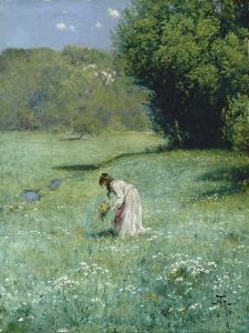 Waldwiese, 1876 by Hans Thoma