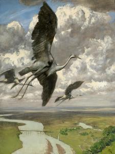 Wondrous Birds, 1892 by Hans Thoma