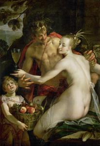 Bacchus, Ceres and Amor by Hans von Aachen