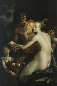 Bacchus, Venus and Cupid by Hans von Aachen