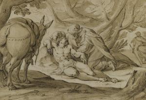 Le bon Samaritain by Hans von Aachen