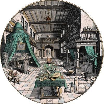 Alchemist's Laboratory, 1595 by Hans Vredeman de Vries