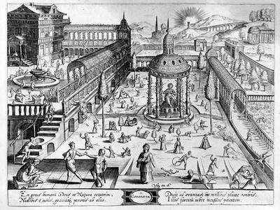 Composita, Engraved by Johannes Wierix (1549-C.1618) Reprinted 1638 (Engraving)