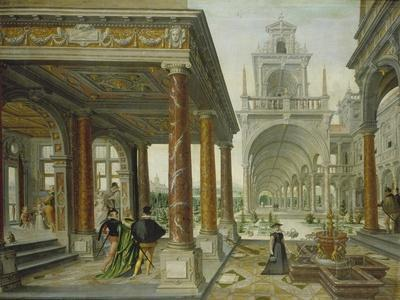 Palace Architecture with Pedestrians, 1596