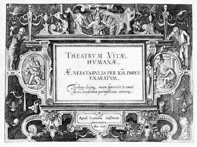 Title-Page for 'Theatrum Vitae Humanae', Engraved by Johannes Wierix (1549-C.1618)