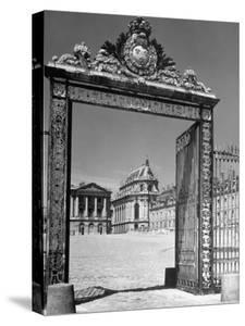 The Gates of the Versailles Palace, Built in the 18th Century, Where Royalty Resided by Hans Wild