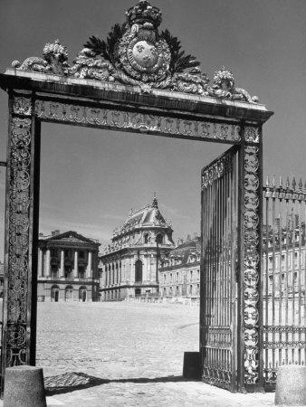 The Gates of the Versailles Palace, Built in the 18th Century, Where Royalty Resided