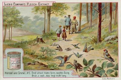 Hansel and Gretel: Birds Eating the Trail of Breadcrumbs Left by Hansel to Find the Way Home--Giclee Print