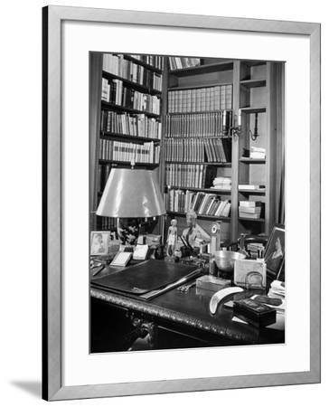 A View of the Surface of Thomas Mann's Working Desk, in His Princeton Home