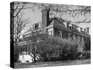 An Exterior View of the Home of Thomas Mann by Hansel Mieth