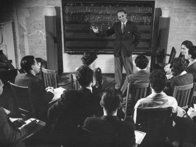 Composer Roy Harris Teaching Music at the Henry Street Settlement