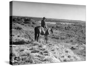 Cowboy at the Matador Ranch in Texas by Hansel Mieth