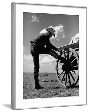 Cowboy at the Matador Ranch in Texas