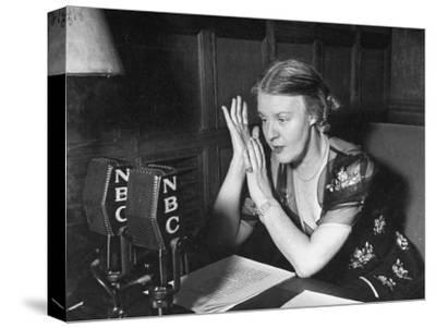 Dorothy Thompson Working on a Radio Broadcast
