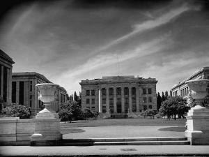 Exterior of the Harvard Medical School by Hansel Mieth