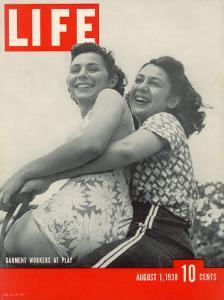 Helen Wachtel and Gladys Kamilhair, International Ladies Garment Workers Union, August 1, 1938 by Hansel Mieth