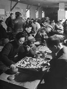 Japanese Go Game Being Played at Alien Relocation Camp by Hansel Mieth