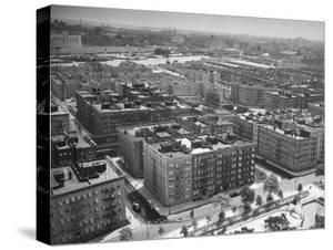 Low Aerial of Harlem Buildings by Hansel Mieth