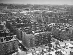 Low Aerial of Harlem Buildings by Hansel Mieth