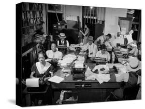 Newspaper City Room of the Amsterdam News, in Harlem by Hansel Mieth