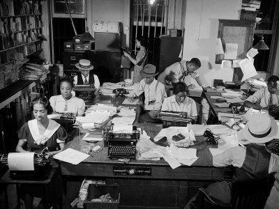 Newspaper City Room of the Amsterdam News, in Harlem