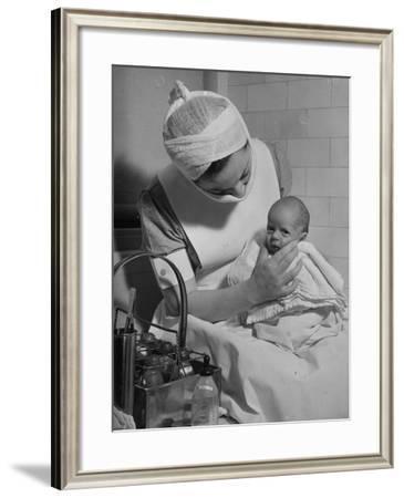 Nurse with Premature Baby