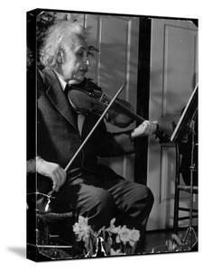 Physicist Dr. Albert Einstein Practicing His Beloved Violin by Hansel Mieth
