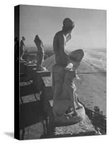 Statues on Sutro Heights Overlooking the Broad Expanse of the Ocean Beach by Hansel Mieth