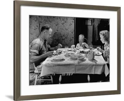 Unemployed Family around the Dinner Table