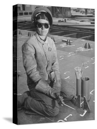 Woman Working as a Ship Welder in the Richmond Shipyards