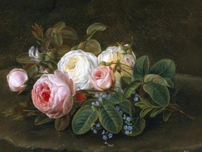 Still Life with Roses and Forget-Me-Nots
