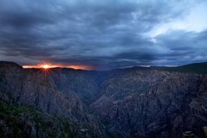 Sunset in Black Canyon of Gunnison by Hansrico Photography