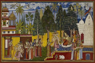 Hanuman in the Ashoka Grove--Giclee Print