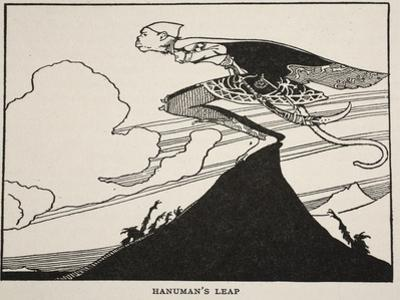 Hanuman's Leap, Illustration from 'The Book of Myths', 1925