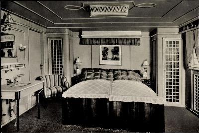 Hapag, Dampfer Deutschland Von Innen, Luxuskabine--Giclee Print