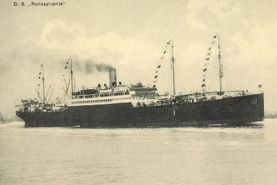 Hapag, Dampfschiff D.S. Pennsylvania in Fahrt--Giclee Print
