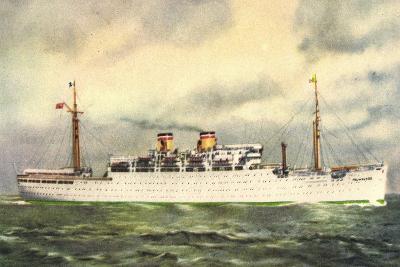 Hapag, Dampfschiff Milwaukee, Transatlantik--Giclee Print