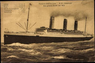 Hapag, Dampfschiff Vaterland, Größtes Schiff Der Welt--Giclee Print