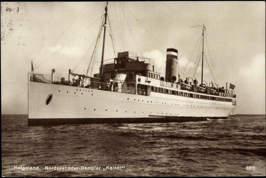 Hapag, Helgoland, Nordseebäderdampfer Kaiser--Giclee Print