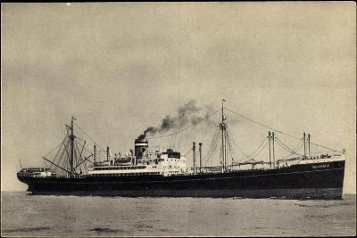 Hapag, S.S. Duivendijk, Dampfschiff, Rauch--Giclee Print