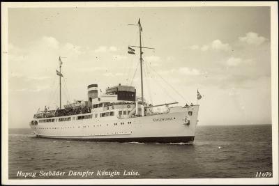 Hapag, Seebäderdienst, Dampfer Königin Luise--Giclee Print