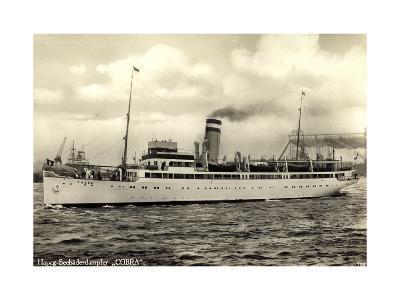 Hapag, Seebäderdienst, Dampfschiff Cobra, Hebekräne--Giclee Print