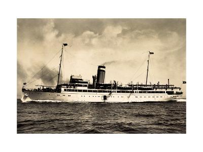 Hapag, Seebäderdienst, Dampfschiff Cobra in Fahrt--Giclee Print
